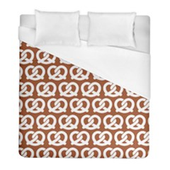 Brown Pretzel Illustrations Pattern Duvet Cover Single Side (twin Size) by creativemom