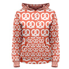Coral Pretzel Illustrations Pattern Women s Pullover Hoodies by creativemom