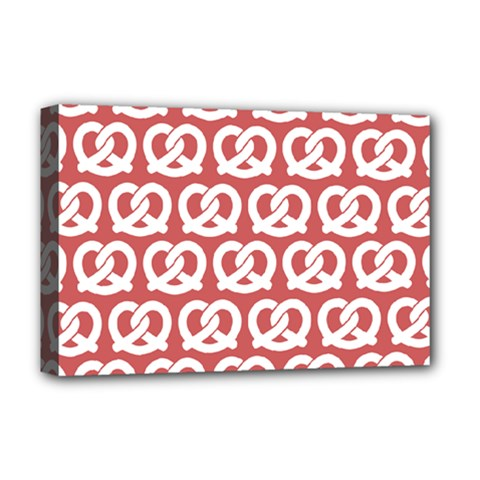 Trendy Pretzel Illustrations Pattern Deluxe Canvas 18  X 12   by creativemom