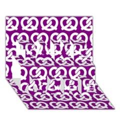 Purple Pretzel Illustrations Pattern Take Care 3d Greeting Card (7x5)  by creativemom