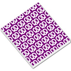 Purple Pretzel Illustrations Pattern Small Memo Pads by creativemom