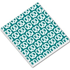 Teal Pretzel Illustrations Pattern Small Memo Pads by creativemom