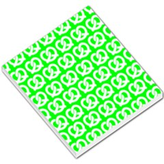 Neon Green Pretzel Illustrations Pattern Small Memo Pads by creativemom