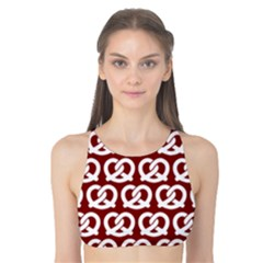 Red Pretzel Illustrations Pattern Tank Bikini Top by creativemom