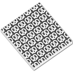 Gray Pretzel Illustrations Pattern Small Memo Pads by creativemom