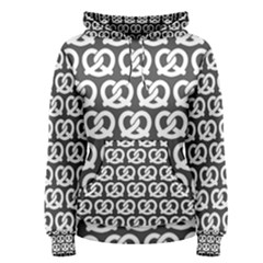 Gray Pretzel Illustrations Pattern Women s Pullover Hoodies by creativemom