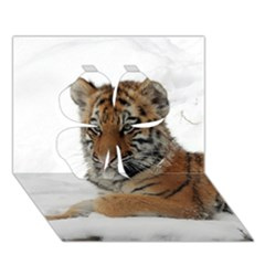 Tiger 2015 0101 Clover 3d Greeting Card (7x5)  by JAMFoto