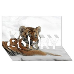 Tiger 2015 0102 Sorry 3d Greeting Card (8x4)  by JAMFoto