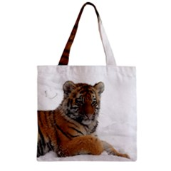 Tiger 2015 0102 Zipper Grocery Tote Bags by JAMFoto