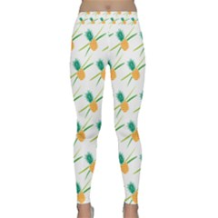 Pineapple Pattern 02 Yoga Leggings by Famous