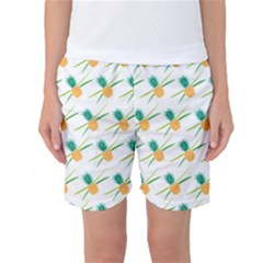 Pineapple Pattern 02 Women s Basketball Shorts by Famous