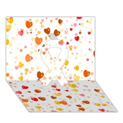 Heart 2014 0605 Ribbon 3d Greeting Card (7x5)  by JAMFoto