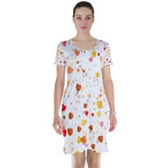 Heart 2014 0605 Short Sleeve Nightdresses