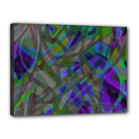 Colorful Abstract Stained Glass G301 Canvas 16  X 12  by MedusArt