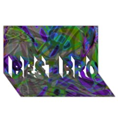 Colorful Abstract Stained Glass G301 Best Bro 3d Greeting Card (8x4)  by MedusArt