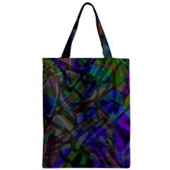 Colorful Abstract Stained Glass G301 Zipper Classic Tote Bags by MedusArt