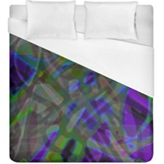 Colorful Abstract Stained Glass G301 Duvet Cover Single Side (kingsize) by MedusArt