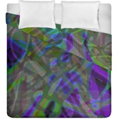 Colorful Abstract Stained Glass G301 Duvet Cover (king Size) by MedusArt