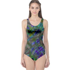 Colorful Abstract Stained Glass G301 Women s One Piece Swimsuits by MedusArt