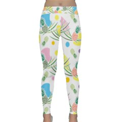 Pineapple Pattern 03 Yoga Leggings by Famous