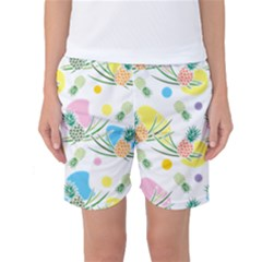 Pineapple Pattern 03 Women s Basketball Shorts by Famous