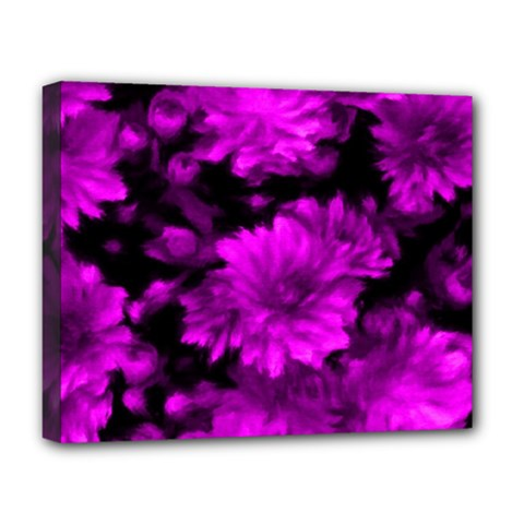 Phenomenal Blossoms Hot  Pink Deluxe Canvas 20  X 16   by MoreColorsinLife