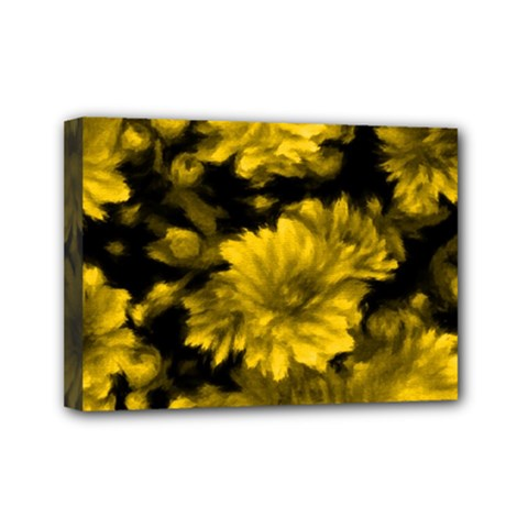 Phenomenal Blossoms Yellow Mini Canvas 7  X 5  by MoreColorsinLife