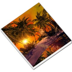 Wonderful Sunset In  A Fantasy World Small Memo Pads by FantasyWorld7