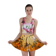 Funny, Cute Christmas Giraffe Mini Skirts by FantasyWorld7