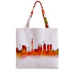 Barcelona 02 Zipper Grocery Tote Bags by hqphoto