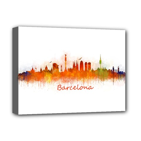 Barcelona City Art Deluxe Canvas 16  X 12   by hqphoto