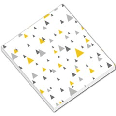 Pastel Random Triangles Modern Pattern Small Memo Pads by Dushan
