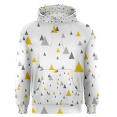 Pastel Random Triangles Modern Pattern Men s Pullover Hoodies