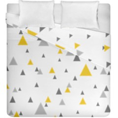 Pastel Random Triangles Modern Pattern Duvet Cover (king Size) by Dushan