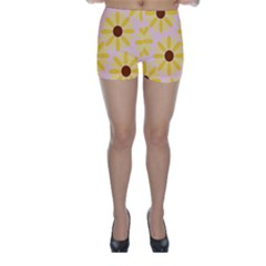 Sunflower Skinny Shorts by CraftyLittleNodes