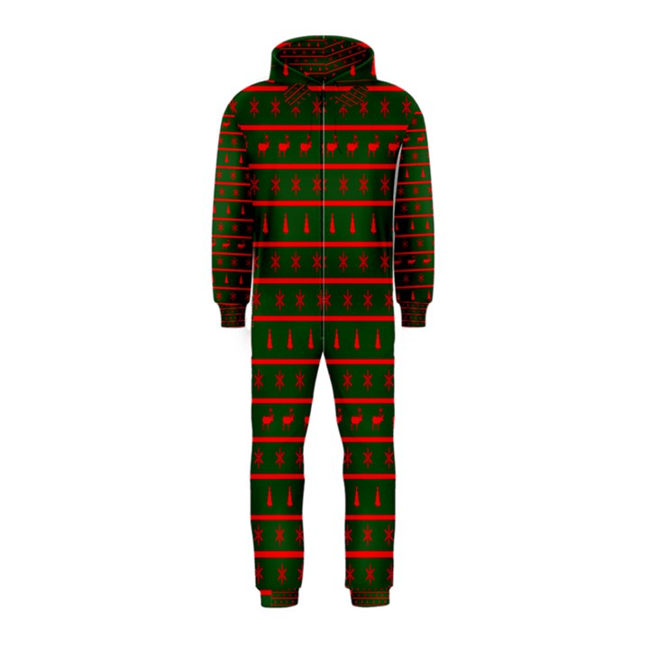 Ugly Christmas Sweater Hooded Jumpsuit (kids) | CowCow