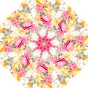 Colorful Floral Collage Folding Umbrellas View1