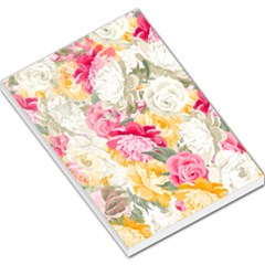 Colorful Floral Collage Large Memo Pads by Dushan