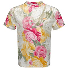 Colorful Floral Collage Men s Cotton Tees by Dushan