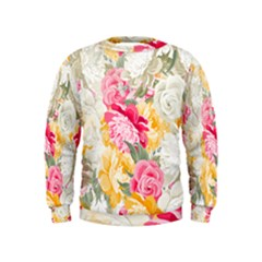 Colorful Floral Collage Boys  Sweatshirts by Dushan
