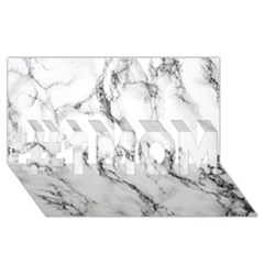 White Marble Stone Print #1 Mom 3d Greeting Cards (8x4)  by Dushan