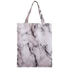White Marble Stone Print Classic Tote Bags