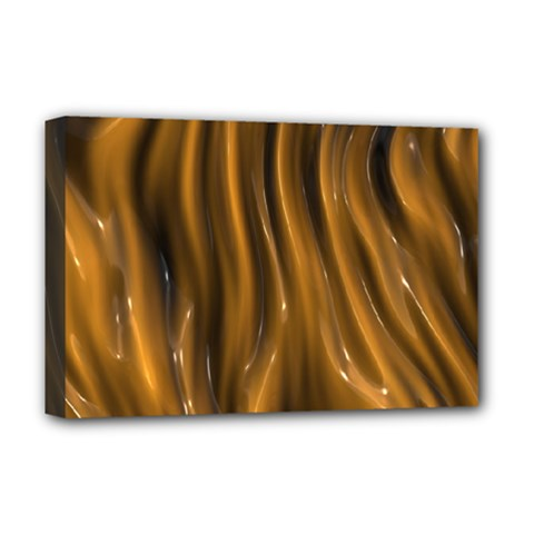 Shiny Silk Golden Deluxe Canvas 18  X 12   by MoreColorsinLife
