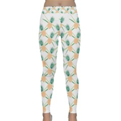 Pineapple Pattern 04 Yoga Leggings by Famous