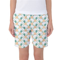 Pineapple Pattern 04 Women s Basketball Shorts by Famous