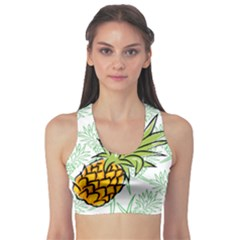 Pineapple Pattern 05 Sports Bra by Famous
