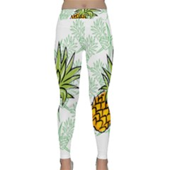 Pineapple Pattern 05 Yoga Leggings by Famous
