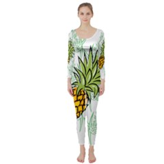 Pineapple Pattern 05 Long Sleeve Catsuit