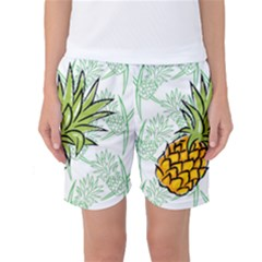 Pineapple Pattern 05 Women s Basketball Shorts by Famous