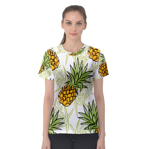 Pineapple Pattern 06 Women s Sport Mesh Tees by Famous